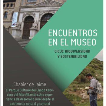 CONFERENCIA EN EL MUSEO DE CIENCIAS NATURALES DE LA UNIVERSIDAD DE ZARAGOZA